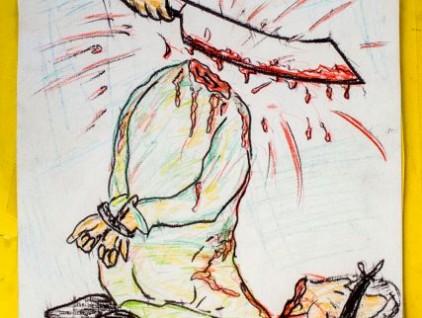 Retrato del dibujante Mustafa Mohamed Amin